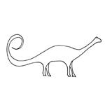 Coloriage dinosaures - Coloriage diplodocus ...