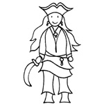 coloriage fille du pirate