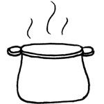 Coloriage soupe au caillou - Coloriage caillou ...