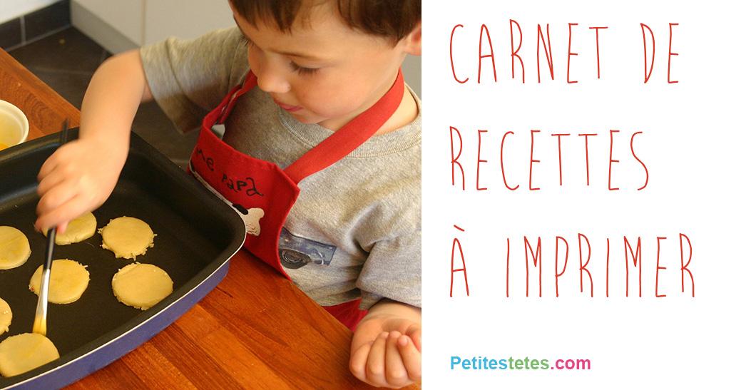 Carnet de recettes - Creer un cahier de recettes de cuisine ...